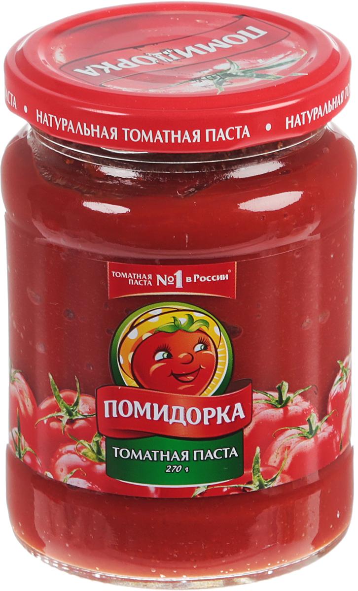 Помидорка томатная паста, 270 г2648Томатная паста Помидорка - гармоничный продукт с оригинальным, свежим вкусом, насыщенным цветом и ароматом.В ней отсутствуют искусственные пищевые добавки - это полностью натуральный продукт! Томатная паста Помидорка очень густая (содержит более 25% сухих веществ) и приготовлена только из помидоров.Уважаемые клиенты! Обращаем ваше внимание на то, что упаковка может иметь несколько видов дизайна. Поставка осуществляется в зависимости от наличия на складе.