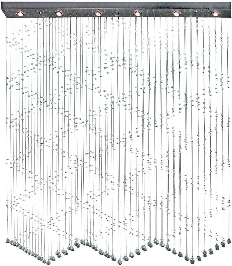 Люстра Максисвет Водопад, 6 х G5.3, 35W. 1-9257-6-CR G5.31-9257-6-CR G5.3Модель хрустального водопада подойдет для оформленияторжественных залов и общественных помещений. В домашних условиях хрустальный водопад может исполнять не только функцию освещения, но и зонального разделения пространства.