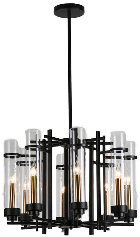 Люстра Riforma Loft, 8 х E27, 40W. 2-8597-8-BK E272-8597-8-BK E27Насыщенность металлами, шнурами,лампочками Эдисона – вот атрибутысовременных модных тенденций виндустриальном светодизайне.Простое исполнение с точным расчетомнаправления светового потока позволяетдобавить эклектического шика винтерьер как квартиры, так и загородного дома.Серия Clear создана для того,чтобы сделать свет вокруг Васчистым и прозрачным.