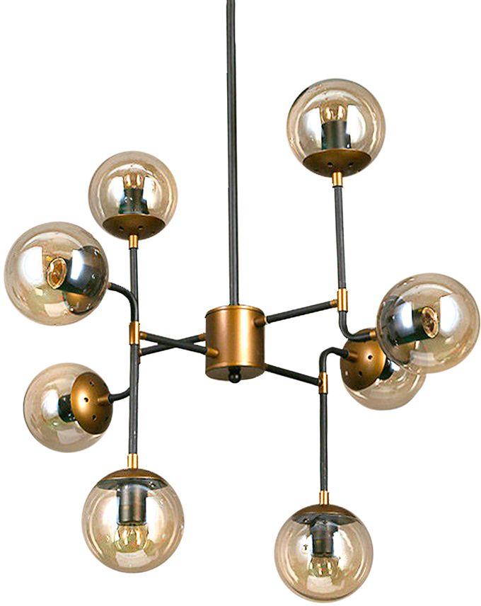 Люстра Riforma Loft, 8 х E27, 40W. 2-8888-8-BK E272-8888-8-BK E27Насыщенность металлами, шнурами,лампочками Эдисона – вот атрибутысовременных модных тенденций виндустриальном светодизайне.Простое исполнение с точным расчетомнаправления светового потока позволяетдобавить эклектического шика винтерьер как квартиры, так и загородного дома.Серия Clear создана для того,чтобы сделать свет вокруг Васчистым и прозрачным.