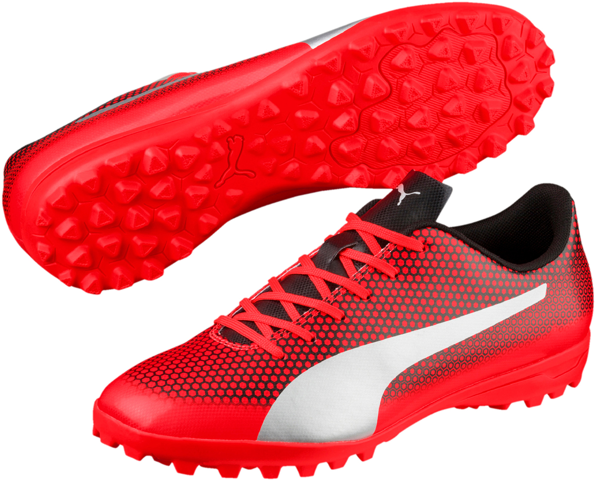 Бутсы мужские Puma Spirit TT, цвет: красный. 10449901. Размер 9 (42) puma бутсы для мальчиков puma spirit tt