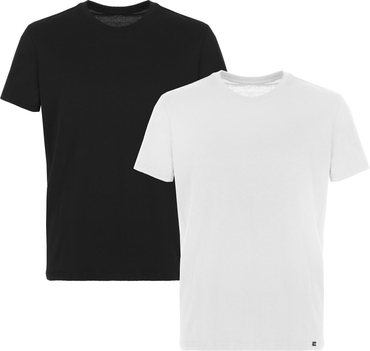 Купить Футболка мужская Lee, цвет: черный, белый, 2 шт. L680AIKW. Размер L (50)
