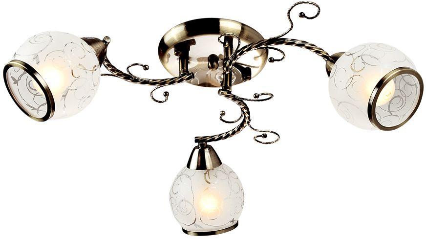 Люстра Максисвет Универсал, 3 х E14, 60W. 1-1063-3-AB E141-1063-3-AB E14В коллекции «Универсал» каждый сможет найти светильник на свой вкус и для любогопомещения: потолочные или подвесные люстры, с круглыми или квадратнымистеклянными плафонами, в форме фонариков или цветов.Разнообразные виды люстр и бра собраны в этой универсальной коллекции. Здесьпредставлены элегантные классические люстры, подвесы с плафонами из матового ипрозрачного стекла в стиле модерн, светильники с элементами ковки, текстильнымиабажурами и хрустальными декоративными элементами.Модели в коллекции «Универсал» объединяет демократичная цена, которая делаетразные по стилистике светильники одинаково доступными каждому покупателю.
