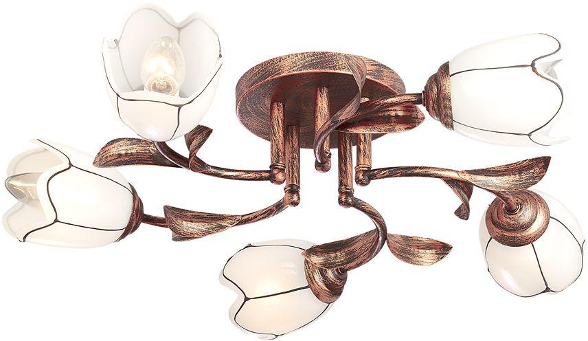 Люстра Максисвет Универсал, 5 х E14, 40W. 1-2078-5-BKS E141-2078-5-BKS E14В коллекции «Универсал» каждый сможет найти светильник на свой вкус и для любогопомещения: потолочные или подвесные люстры, с круглыми или квадратнымистеклянными плафонами, в форме фонариков или цветов.Разнообразные виды люстр и бра собраны в этой универсальной коллекции. Здесьпредставлены элегантные классические люстры, подвесы с плафонами из матового ипрозрачного стекла в стиле модерн, светильники с элементами ковки, текстильнымиабажурами и хрустальными декоративными элементами.Модели в коллекции «Универсал» объединяет демократичная цена, которая делаетразные по стилистике светильники одинаково доступными каждому покупателю.