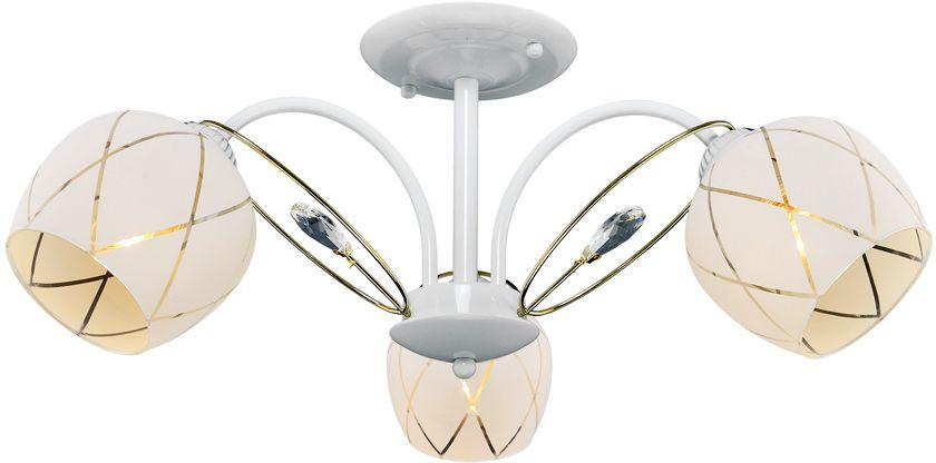 Люстра Максисвет Универсал, 3 х E27, 60W. 1-8559-3-WH+FG E271-8559-3-WH+FG E27В коллекции «Универсал» каждый сможет найти светильник на свой вкус и для любогопомещения: потолочные или подвесные люстры, с круглыми или квадратнымистеклянными плафонами, в форме фонариков или цветов.Разнообразные виды люстр и бра собраны в этой универсальной коллекции. Здесьпредставлены элегантные классические люстры, подвесы с плафонами из матового ипрозрачного стекла в стиле модерн, светильники с элементами ковки, текстильнымиабажурами и хрустальными декоративными элементами.Модели в коллекции «Универсал» объединяет демократичная цена, которая делаетразные по стилистике светильники одинаково доступными каждому покупателю.