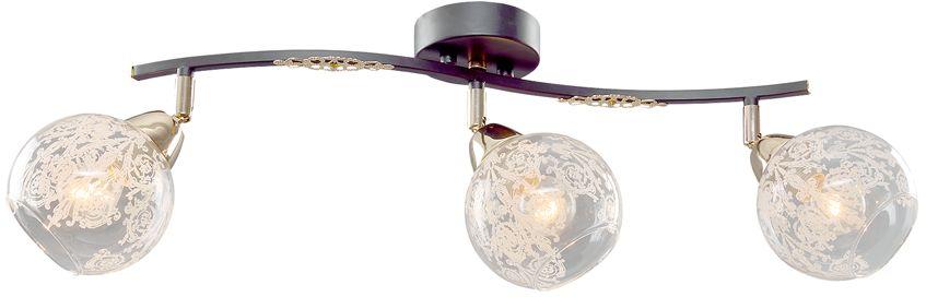 Люстра Максисвет Универсал, 3 х E14, 60W. 1-8-3-BR+FG Е141-8-3-BR+FG Е14В коллекции «Универсал» каждый сможет найти светильник на свой вкус и для любогопомещения: потолочные или подвесные люстры, с круглыми или квадратнымистеклянными плафонами, в форме фонариков или цветов.Разнообразные виды люстр и бра собраны в этой универсальной коллекции. Здесьпредставлены элегантные классические люстры, подвесы с плафонами из матового ипрозрачного стекла в стиле модерн, светильники с элементами ковки, текстильнымиабажурами и хрустальными декоративными элементами.Модели в коллекции «Универсал» объединяет демократичная цена, которая делаетразные по стилистике светильники одинаково доступными каждому покупателю.
