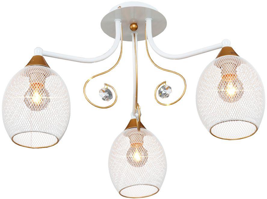 Люстра Максисвет Универсал, 3 х E14, 60W. 1-8570-3-WH+GL Е141-8570-3-WH+GL Е14В коллекции «Универсал» каждый сможет найти светильник на свой вкус и для любогопомещения: потолочные или подвесные люстры, с круглыми или квадратнымистеклянными плафонами, в форме фонариков или цветов.Разнообразные виды люстр и бра собраны в этой универсальной коллекции. Здесьпредставлены элегантные классические люстры, подвесы с плафонами из матового ипрозрачного стекла в стиле модерн, светильники с элементами ковки, текстильнымиабажурами и хрустальными декоративными элементами.Модели в коллекции «Универсал» объединяет демократичная цена, которая делаетразные по стилистике светильники одинаково доступными каждому покупателю.