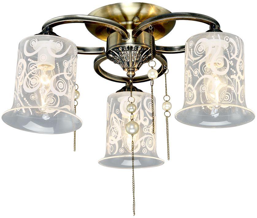 Люстра Максисвет Универсал, 3 х E14, 60W. 1-8574-3-AB E141-8574-3-AB E14В коллекции «Универсал» каждый сможет найти светильник на свой вкус и для любогопомещения: потолочные или подвесные люстры, с круглыми или квадратнымистеклянными плафонами, в форме фонариков или цветов.Разнообразные виды люстр и бра собраны в этой универсальной коллекции. Здесьпредставлены элегантные классические люстры, подвесы с плафонами из матового ипрозрачного стекла в стиле модерн, светильники с элементами ковки, текстильнымиабажурами и хрустальными декоративными элементами.Модели в коллекции «Универсал» объединяет демократичная цена, которая делаетразные по стилистике светильники одинаково доступными каждому покупателю.