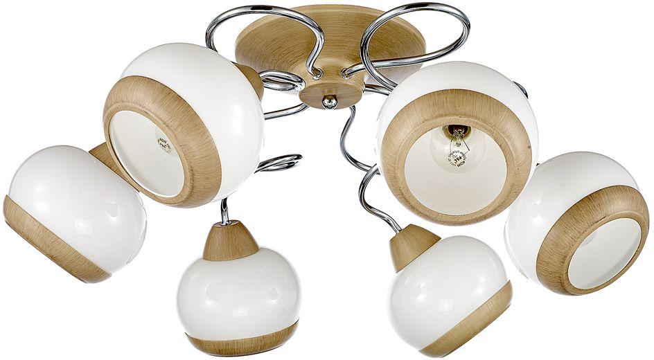 Люстра Максисвет Универсал, 6 х E14, 60W. 1-8592-6-WA+CR E141-8592-6-WA+CR E14Минималистическая серия потолочных светильников в коллекции Универсал:- выдувные белые глянцевые плафоны идеально рассеивают свет- серия светильников представлена в двух вариантах цветов каркаса – хром + светлый венге и античная бронза- плафоны светильника украшены металлическими кольцами в цвет основного каркаса