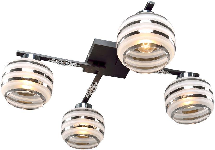Люстра Максисвет Универсал, 4 х E14, 60W. 1-8595-4-BK+CR Е141-8595-4-BK+CR Е14В коллекции «Универсал» каждый сможет найти светильник на свой вкус и для любогопомещения: потолочные или подвесные люстры, с круглыми или квадратнымистеклянными плафонами, в форме фонариков или цветов.Разнообразные виды люстр и бра собраны в этой универсальной коллекции. Здесьпредставлены элегантные классические люстры, подвесы с плафонами из матового ипрозрачного стекла в стиле модерн, светильники с элементами ковки, текстильнымиабажурами и хрустальными декоративными элементами.Модели в коллекции «Универсал» объединяет демократичная цена, которая делаетразные по стилистике светильники одинаково доступными каждому покупателю.