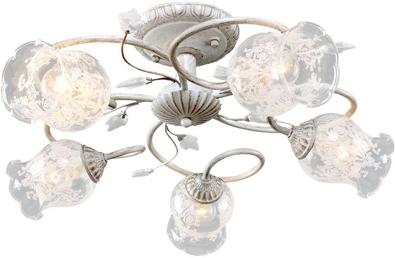 Люстра Максисвет Универсал, 5 х E14, 60W. 1-8610-5-WHS Е141-8610-5-WHS Е14В коллекции «Универсал» каждый сможет найти светильник на свой вкус и для любогопомещения: потолочные или подвесные люстры, с круглыми или квадратнымистеклянными плафонами, в форме фонариков или цветов.Разнообразные виды люстр и бра собраны в этой универсальной коллекции. Здесьпредставлены элегантные классические люстры, подвесы с плафонами из матового ипрозрачного стекла в стиле модерн, светильники с элементами ковки, текстильнымиабажурами и хрустальными декоративными элементами.Модели в коллекции «Универсал» объединяет демократичная цена, которая делаетразные по стилистике светильники одинаково доступными каждому покупателю.