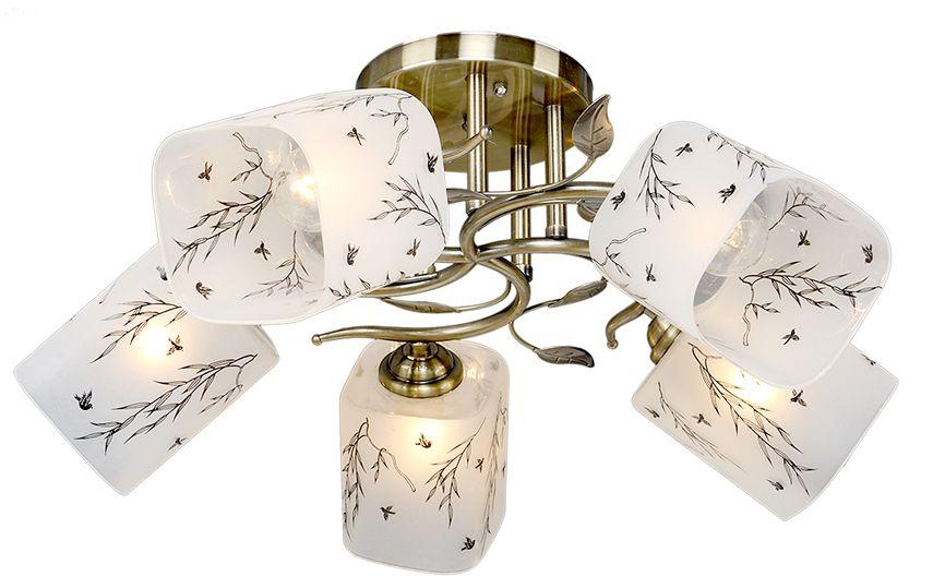 Люстра Максисвет Универсал, 5 х E27, 40W. 1-8650-5-AB Е271-8650-5-AB Е27В коллекции «Универсал» каждый сможет найти светильник на свой вкус и для любогопомещения: потолочные или подвесные люстры, с круглыми или квадратнымистеклянными плафонами, в форме фонариков или цветов.Разнообразные виды люстр и бра собраны в этой универсальной коллекции. Здесьпредставлены элегантные классические люстры, подвесы с плафонами из матового ипрозрачного стекла в стиле модерн, светильники с элементами ковки, текстильнымиабажурами и хрустальными декоративными элементами.Модели в коллекции «Универсал» объединяет демократичная цена, которая делаетразные по стилистике светильники одинаково доступными каждому покупателю.