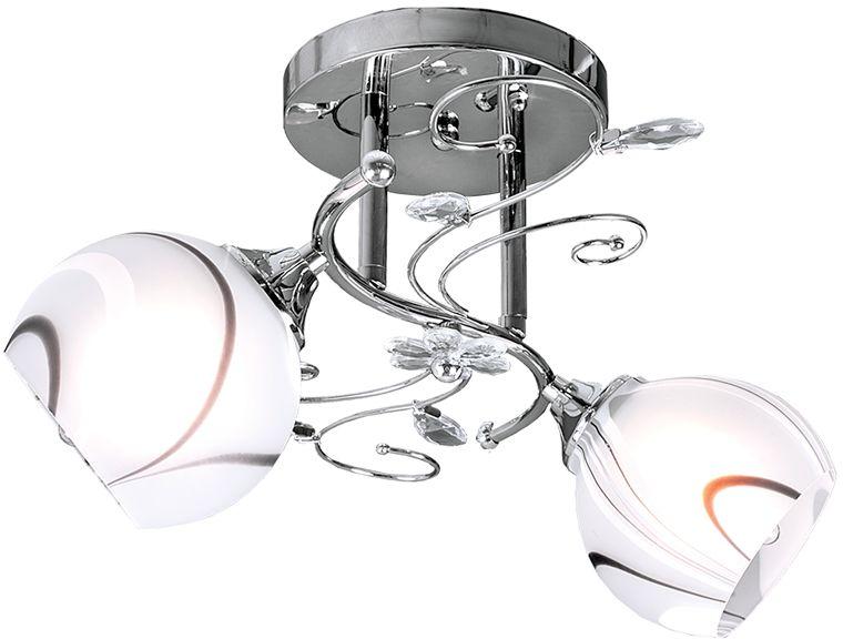 Люстра Максисвет Универсал, 2 х E27, 40W. 1-8669-2-CR E271-8669-2-CR E27В коллекции «Универсал» каждый сможет найти светильник на свой вкус и для любогопомещения: потолочные или подвесные люстры, с круглыми или квадратнымистеклянными плафонами, в форме фонариков или цветов.Разнообразные виды люстр и бра собраны в этой универсальной коллекции. Здесьпредставлены элегантные классические люстры, подвесы с плафонами из матового ипрозрачного стекла в стиле модерн, светильники с элементами ковки, текстильнымиабажурами и хрустальными декоративными элементами.Модели в коллекции «Универсал» объединяет демократичная цена, которая делаетразные по стилистике светильники одинаково доступными каждому покупателю.