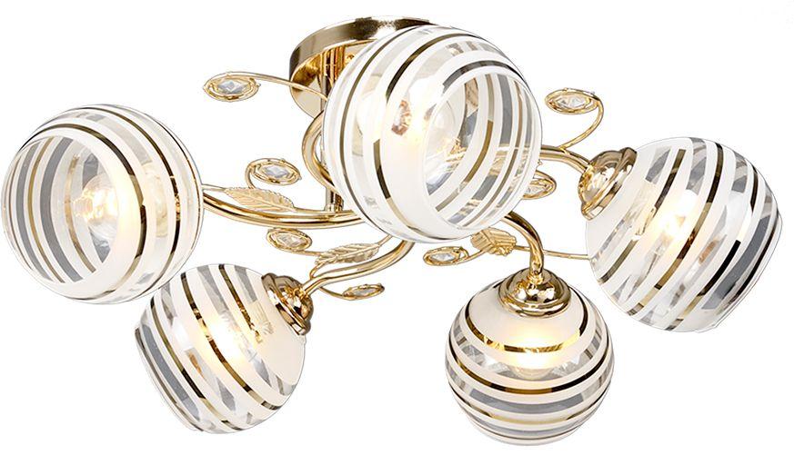 Люстра Максисвет Универсал, 5 х E27, 40W. 1-8670-5-FG Е271-8670-5-FG Е27В коллекции «Универсал» каждый сможет найти светильник на свой вкус и для любогопомещения: потолочные или подвесные люстры, с круглыми или квадратнымистеклянными плафонами, в форме фонариков или цветов.Разнообразные виды люстр и бра собраны в этой универсальной коллекции. Здесьпредставлены элегантные классические люстры, подвесы с плафонами из матового ипрозрачного стекла в стиле модерн, светильники с элементами ковки, текстильнымиабажурами и хрустальными декоративными элементами.Модели в коллекции «Универсал» объединяет демократичная цена, которая делаетразные по стилистике светильники одинаково доступными каждому покупателю.