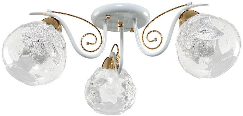 Люстра Максисвет Универсал, 3 х E27, 60W. 1-8690-3-WH+FG E271-8690-3-WH+FG E27В коллекции «Универсал» каждый сможет найти светильник на свой вкус и для любогопомещения: потолочные или подвесные люстры, с круглыми или квадратнымистеклянными плафонами, в форме фонариков или цветов.Разнообразные виды люстр и бра собраны в этой универсальной коллекции. Здесьпредставлены элегантные классические люстры, подвесы с плафонами из матового ипрозрачного стекла в стиле модерн, светильники с элементами ковки, текстильнымиабажурами и хрустальными декоративными элементами.Модели в коллекции «Универсал» объединяет демократичная цена, которая делаетразные по стилистике светильники одинаково доступными каждому покупателю.