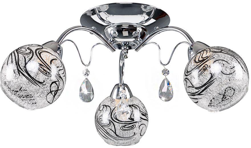 Люстра Максисвет Универсал, 3 х E14, 40W. 1-8725-3-CR Е141-8725-3-CR Е14В коллекции «Универсал» каждый сможет найти светильник на свой вкус и для любогопомещения: потолочные или подвесные люстры, с круглыми или квадратнымистеклянными плафонами, в форме фонариков или цветов.Разнообразные виды люстр и бра собраны в этой универсальной коллекции. Здесьпредставлены элегантные классические люстры, подвесы с плафонами из матового ипрозрачного стекла в стиле модерн, светильники с элементами ковки, текстильнымиабажурами и хрустальными декоративными элементами.Модели в коллекции «Универсал» объединяет демократичная цена, которая делаетразные по стилистике светильники одинаково доступными каждому покупателю.