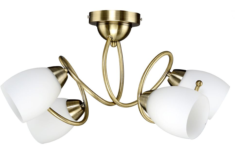 Люстра Максисвет Универсал, 4 х E27, 40W. 1-8760-4-AB E271-8760-4-AB E27Серия светильников 8760 будет пользоваться популярностью у покупателей благодаря:- витому каркасу, который придает люстрам объем-и плафонам из матового белого стекла без рисунка, делающие люстру универсальной для помещений с любым дизайном.Увеличенное количество ламп гарантирует хорошую освещенность помещений.