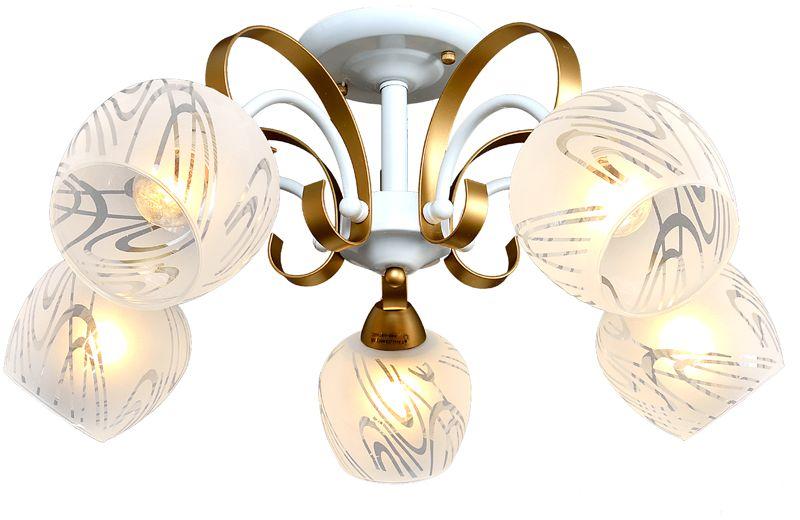 Люстра Максисвет Универсал, 5 х E27, 60W. 1-8805-5-WH+GL E271-8805-5-WH+GL E27В коллекции «Универсал» каждый сможет найти светильник на свой вкус и для любогопомещения: потолочные или подвесные люстры, с круглыми или квадратнымистеклянными плафонами, в форме фонариков или цветов.Разнообразные виды люстр и бра собраны в этой универсальной коллекции. Здесьпредставлены элегантные классические люстры, подвесы с плафонами из матового ипрозрачного стекла в стиле модерн, светильники с элементами ковки, текстильнымиабажурами и хрустальными декоративными элементами.Модели в коллекции «Универсал» объединяет демократичная цена, которая делаетразные по стилистике светильники одинаково доступными каждому покупателю.