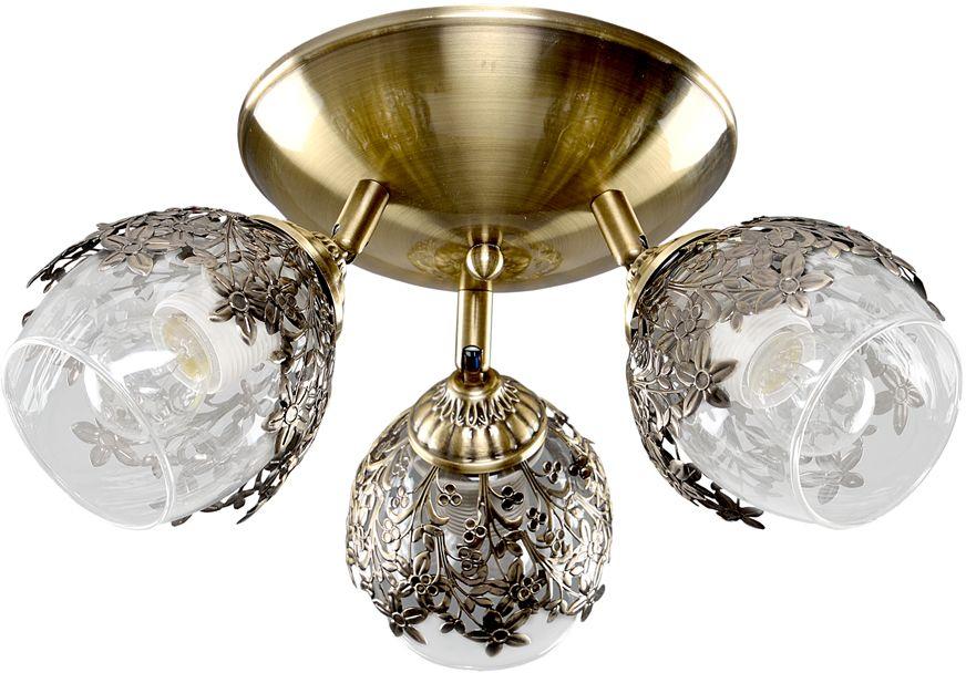 Люстра Максисвет Универсал, 3 х E27, 60W. 1-8865-3-AB E271-8865-3-AB E27В коллекции «Универсал» каждый сможет найти светильник на свой вкус и для любогопомещения: потолочные или подвесные люстры, с круглыми или квадратнымистеклянными плафонами, в форме фонариков или цветов.Разнообразные виды люстр и бра собраны в этой универсальной коллекции. Здесьпредставлены элегантные классические люстры, подвесы с плафонами из матового ипрозрачного стекла в стиле модерн, светильники с элементами ковки, текстильнымиабажурами и хрустальными декоративными элементами.Модели в коллекции «Универсал» объединяет демократичная цена, которая делаетразные по стилистике светильники одинаково доступными каждому покупателю.