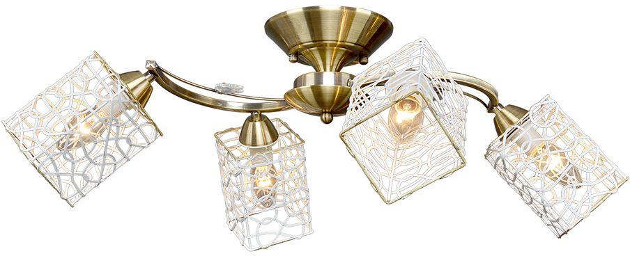 Люстра Максисвет Универсал, 4 х E14, 60W. 1-8875-4-AB E141-8875-4-AB E14В коллекции «Универсал» каждый сможет найти светильник на свой вкус и для любогопомещения: потолочные или подвесные люстры, с круглыми или квадратнымистеклянными плафонами, в форме фонариков или цветов.Разнообразные виды люстр и бра собраны в этой универсальной коллекции. Здесьпредставлены элегантные классические люстры, подвесы с плафонами из матового ипрозрачного стекла в стиле модерн, светильники с элементами ковки, текстильнымиабажурами и хрустальными декоративными элементами.Модели в коллекции «Универсал» объединяет демократичная цена, которая делаетразные по стилистике светильники одинаково доступными каждому покупателю.