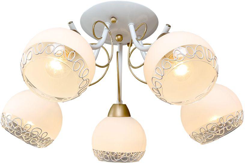 Люстра Максисвет Универсал, 5 х E14, 60W. 1-8995-5-WH+GL E141-8995-5-WH+GL E14В коллекции «Универсал» каждый сможет найти светильник на свой вкус и для любогопомещения: потолочные или подвесные люстры, с круглыми или квадратнымистеклянными плафонами, в форме фонариков или цветов.Разнообразные виды люстр и бра собраны в этой универсальной коллекции. Здесьпредставлены элегантные классические люстры, подвесы с плафонами из матового ипрозрачного стекла в стиле модерн, светильники с элементами ковки, текстильнымиабажурами и хрустальными декоративными элементами.Модели в коллекции «Универсал» объединяет демократичная цена, которая делаетразные по стилистике светильники одинаково доступными каждому покупателю.