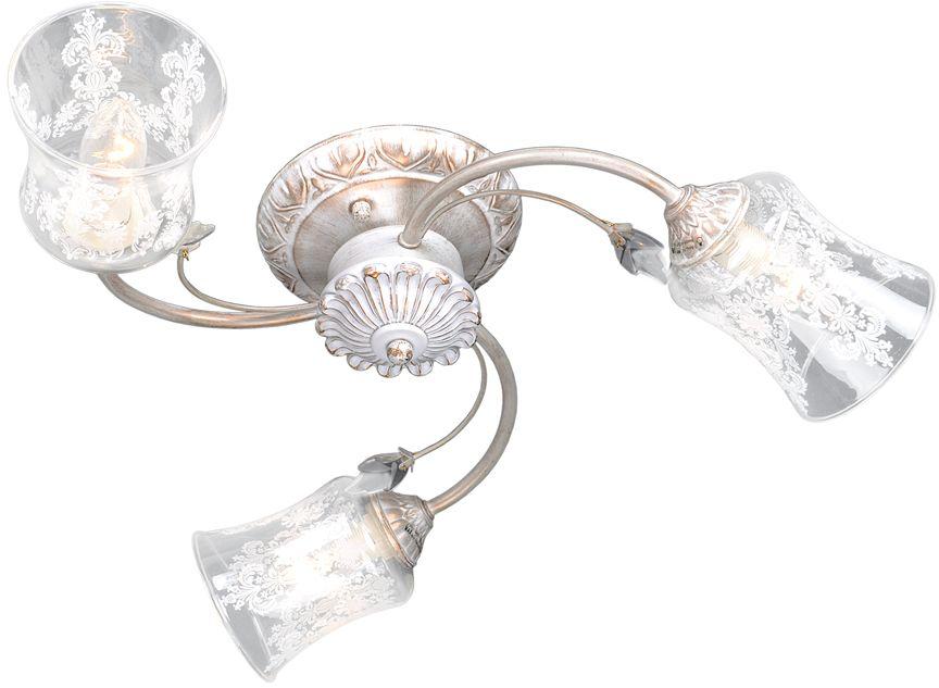 Люстра Максисвет Универсал, 3 х E14, 60W. 1-9125-3-WH E141-9125-3-WH E14В коллекции «Универсал» каждый сможет найти светильник на свой вкус и для любогопомещения: потолочные или подвесные люстры, с круглыми или квадратнымистеклянными плафонами, в форме фонариков или цветов.Разнообразные виды люстр и бра собраны в этой универсальной коллекции. Здесьпредставлены элегантные классические люстры, подвесы с плафонами из матового ипрозрачного стекла в стиле модерн, светильники с элементами ковки, текстильнымиабажурами и хрустальными декоративными элементами.Модели в коллекции «Универсал» объединяет демократичная цена, которая делаетразные по стилистике светильники одинаково доступными каждому покупателю.