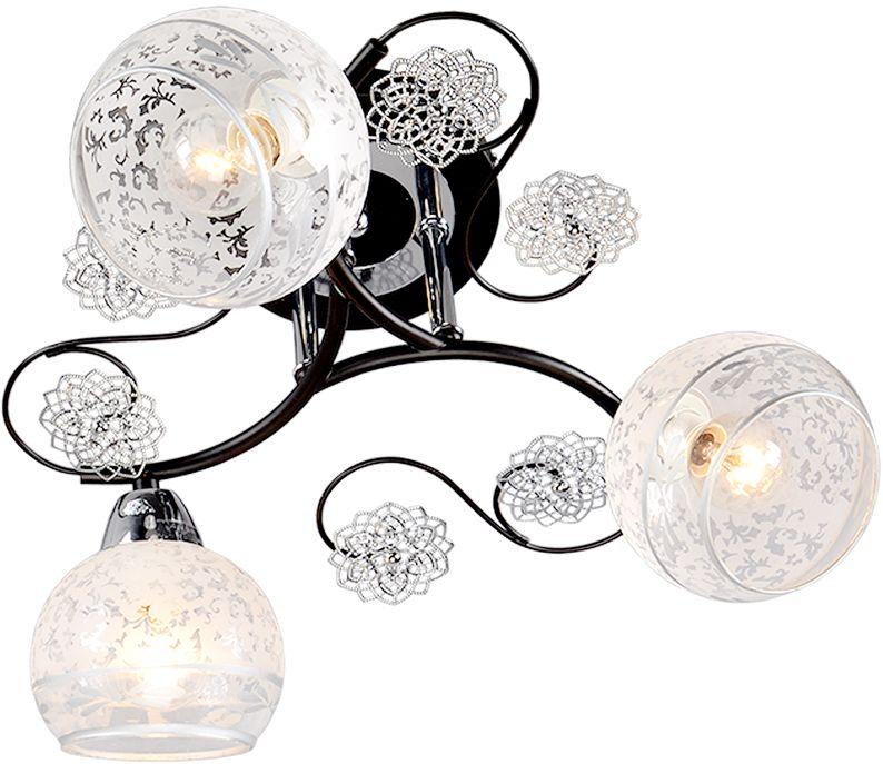 Люстра Максисвет Универсал, 3 х E14, 60W. 1-9190-3-CR+BK E141-9190-3-CR+BK E14В коллекции «Универсал» каждый сможет найти светильник на свой вкус и для любогопомещения: потолочные или подвесные люстры, с круглыми или квадратнымистеклянными плафонами, в форме фонариков или цветов.Разнообразные виды люстр и бра собраны в этой универсальной коллекции. Здесьпредставлены элегантные классические люстры, подвесы с плафонами из матового ипрозрачного стекла в стиле модерн, светильники с элементами ковки, текстильнымиабажурами и хрустальными декоративными элементами.Модели в коллекции «Универсал» объединяет демократичная цена, которая делаетразные по стилистике светильники одинаково доступными каждому покупателю.