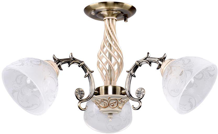 Люстра Максисвет Универсал, 3 х E27, 60W. 1-9198-3-AB+WH E271-9198-3-AB+WH E27В коллекции «Универсал» каждый сможет найти светильник на свой вкус и для любогопомещения: потолочные или подвесные люстры, с круглыми или квадратнымистеклянными плафонами, в форме фонариков или цветов.Разнообразные виды люстр и бра собраны в этой универсальной коллекции. Здесьпредставлены элегантные классические люстры, подвесы с плафонами из матового ипрозрачного стекла в стиле модерн, светильники с элементами ковки, текстильнымиабажурами и хрустальными декоративными элементами.Модели в коллекции «Универсал» объединяет демократичная цена, которая делаетразные по стилистике светильники одинаково доступными каждому покупателю.