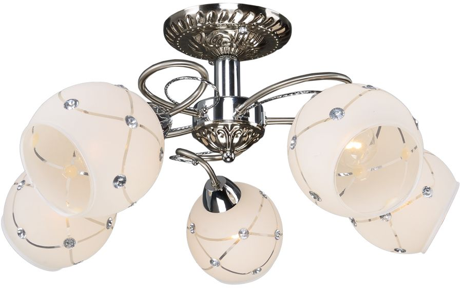 Люстра Максисвет  Универсал , 5 х E14, 60W. 1-9390-5-ST+CR E14 -  Светильники