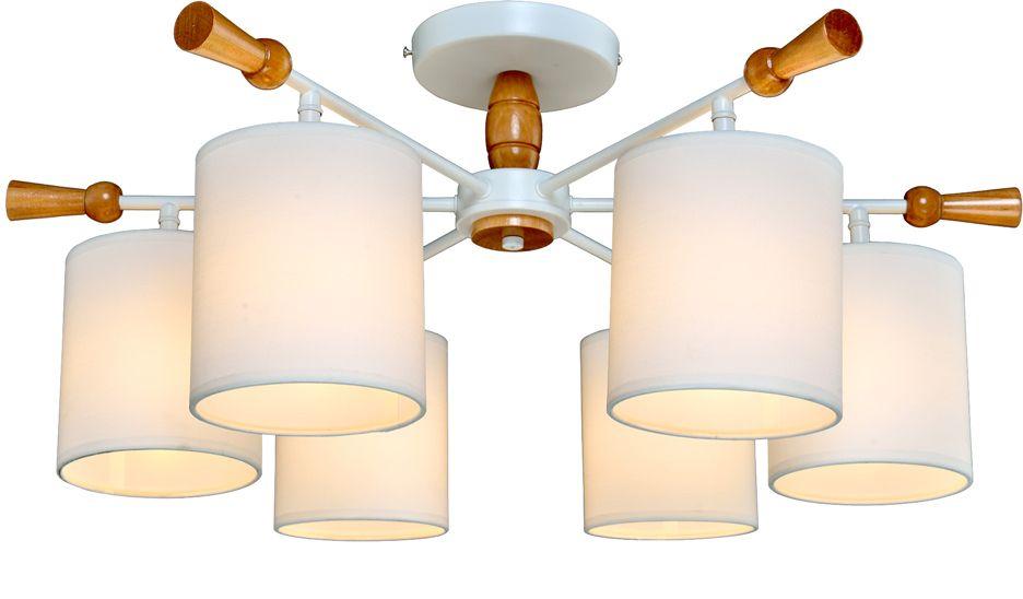 Люстра Максисвет Еврокаркасы, 6 х E14, 60W. 1-3012-6-WH+WA E141-3012-6-WH+WA E14Серии потолочных светильников 3012 идеально подойдут как для освещения гостиных и спален, так и для детских комнат.Каркас светильника выполнен в форме штурвала. «Рукоятки штурвала» и декоративные элементы светильников выполнены из дерева цвета беленый дуб.Плафоны светильников изготовлены из белого текстиля на светотехническом пластике. Плафоны распространяют мягкий, уютный свет.Серия светильников представлена в двух цветах каркаса – белая эмаль и блестящий хром.