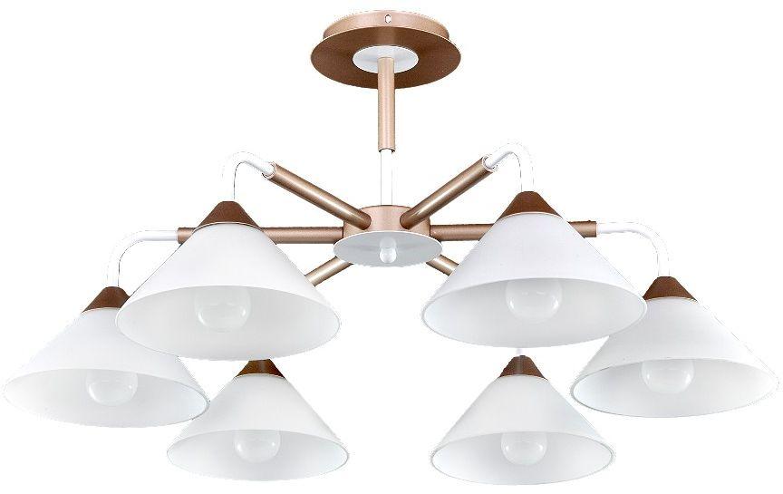 Люстра Максисвет Еврокаркасы, 6 х E14, 60W. 1-3019-6-mattFG+WH E141-3019-6-mattFG+WH E14Коллекция «Еврокаркасы» – это стильные светильники европейского дизайна,которые идеально впишутся в современные интерьеры.Лаконичные формы воплощены в матовом, граненом и тонированном стекле,которое обрамляют каркасы насыщенных темно-коричневых, кофейных цветов,цвета античной бронзы и, конечно, цвета дерева венге.Наши светильники ориентированы на массовый спрос, так как идеально подходятдля небольших по площади комнат с высотой потолка 2,50 – 2,70 м и гармоничносочетаются с корпусной мебелью широко распространенного цвета венге.