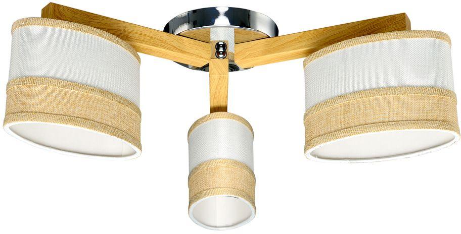 Люстра Максисвет Еврокаркасы, 3 х E27, 60W. 1-3410-3-WA+CR E271-3410-3-WA+CR E27Простота линий и экологичность материалов (дерево, лен) представленных моделей светильников характерны для одного из модных сейчас направлений в интерьере - экостиль. Светильники прекрасно впишутся в интерьер в стиле Икея.