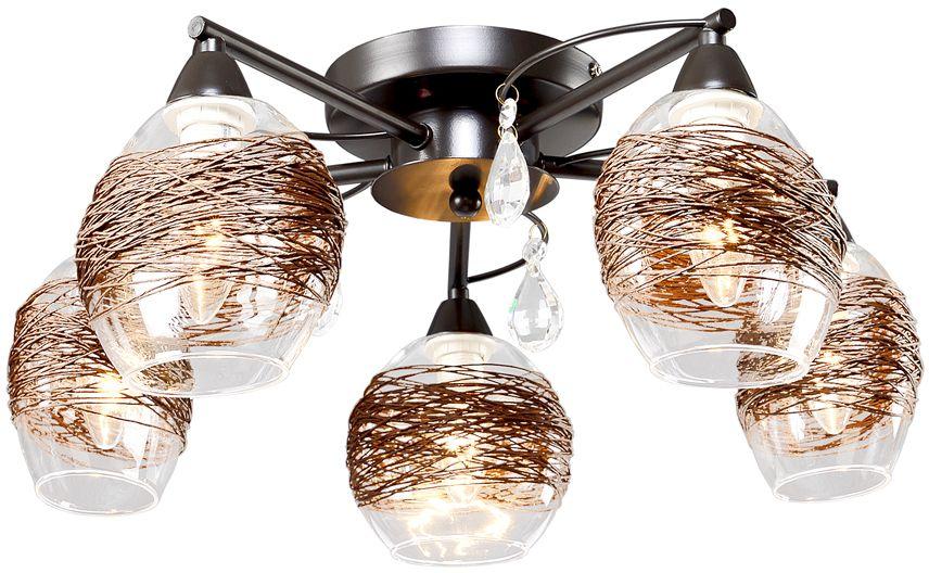 Люстра Максисвет Еврокаркасы, 5 х E14, 60W. 1-3430-5-BR E141-3430-5-BR E14Коллекция «Еврокаркасы» – это стильные светильники европейского дизайна,которые идеально впишутся в современные интерьеры.Лаконичные формы воплощены в матовом, граненом и тонированном стекле,которое обрамляют каркасы насыщенных темно-коричневых, кофейных цветов,цвета античной бронзы и, конечно, цвета дерева венге.Наши светильники ориентированы на массовый спрос, так как идеально подходятдля небольших по площади комнат с высотой потолка 2,50 – 2,70 м и гармоничносочетаются с корпусной мебелью широко распространенного цвета венге.