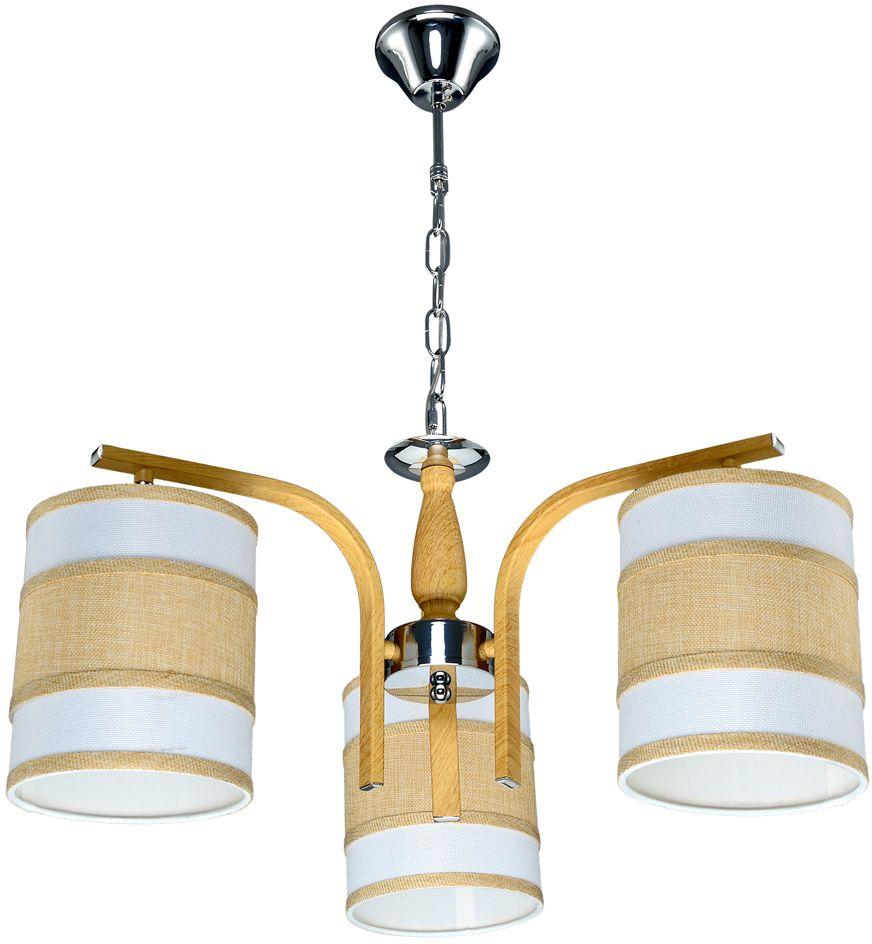 Люстра Максисвет Еврокаркасы, 3 х E27, 60W. 2-3407-3-WA+CR E272-3407-3-WA+CR E27Серии подвесных светильников 3407 и 3408 выполнены в классическом польском стиле:- крупные текстильные плафоны дают теплый рассеянный свет и создают уютную атмосферу,- каркас выполнен из массива дерева цвета орех.При этом хромированные элементы каркаса делают светильники более современными и позволяют легко вписать люстру в интерьер с хромированной фурнитурой.