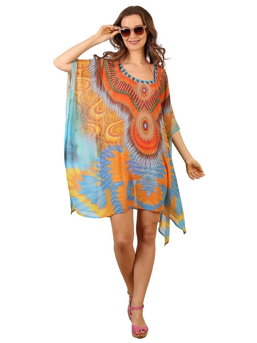 Туника женская Venera, цвет: оранжевый. 1500479-4. Размер 44/54 туника venera 1500489 14