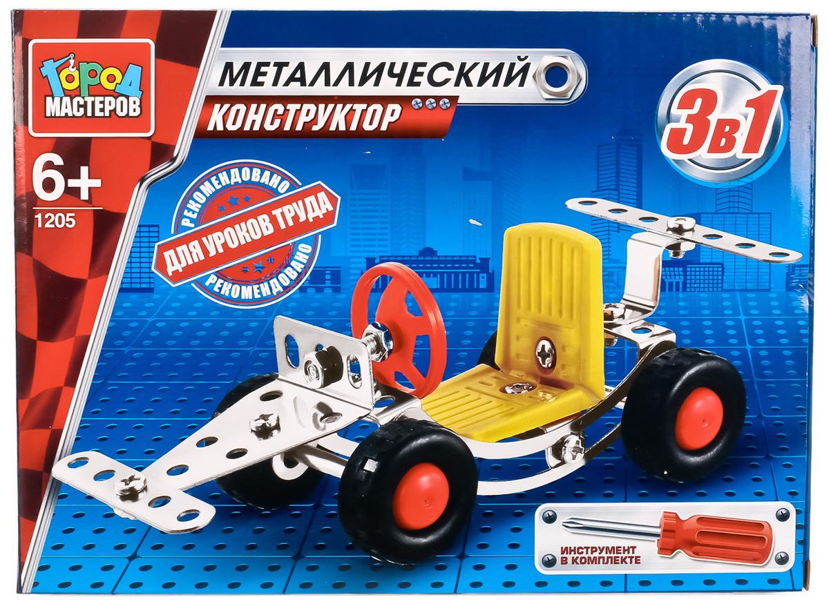 Город мастеров Металлический конструктор Машинка 3-в-1, Конструкторы  - купить со скидкой