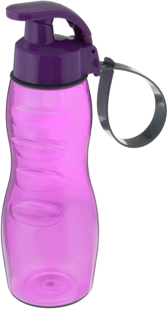 Бутылка для воды Herevin, цвет: фиолетовый, 500 мл gipfel бутылка для воды recycle 500 мл оранжевая
