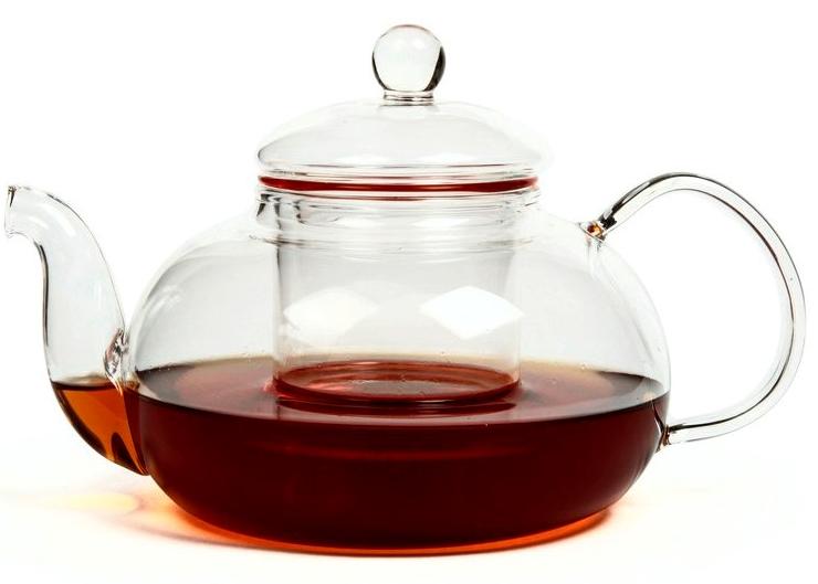 """Заварочный чайник Hunan Provincial """"Смородина"""" изготовлен из стекла. Пить чай из такого чайника сплошное удовольствие! Полностью прозрачная форма  позволяет любоваться цветом своего любимого напитка. Устойчивая основа, широкий носик, удобная ручка - все выполнено идеально для достижения полного  комфорта в использовании. Внутреннее сито выполнено на 100% из стекла. После того, как чай заварился, колбу лучше всего достать из чайника, для того чтобы чайный лист не перезаваривался. Диаметр чайника (по верхнему краю): 6,5 см.  Высота чайника (без учета крышки): 7,5 см.  Высота чайника (с учетом крышки): 12 см. Высота фильтра: 6 см."""