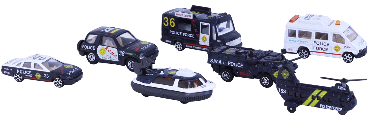 Pioneer Toys Набор машин Police car 7 шт pioneer toys набор машин фура