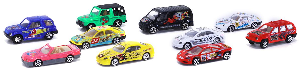 Pioneer Toys Набор спортивных машин 10 шт pioneer toys набор машин фура