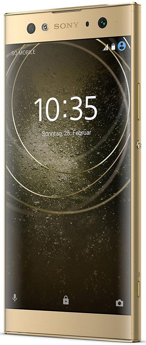 Sony Xperia XA2 Ultra, Gold7311271607809Представляем смартфон Sony Xperia XA2 Ultra с двумя селфи-камерами. Делайте отличные снимки в любыхусловиях: днем и ночью, в одиночку и с друзьями. В Xperia XA2 Ultra есть 16-мегапиксельная камера для съемкипри низкой освещенности и 8-мегапиксельная камера для групповых селфи.16-мегапиксельная камера с матрицей Exmor RS для мобильных устройств и технологией оптическойстабилизации изображения позволяет получать более четкие и яркие снимки даже при низкой освещенности.Снимайте отличные групповые селфи, ведь благодаря 8-мегапиксельной камере со сверхширокоугольнымобъективом на 120° и матрицей Exmor R для мобильных устройств в кадре поместятся все ваши друзья.23-мегапиксельная камера, разработанная специалистами Sony, позволяет снимать высококачественныефотографии и видео. Благодаря матрице Exmor RS для мобильных устройств и поддержке записи в разрешении4K ваши материалы будут невероятно детализированными.С Xperia XA2 Ultra вы с головой погрузитесь в мир развлечений. Большой 6-дюймовый дисплей Full HD позволитувидеть огромный диапазон оттенков и малейшие детали изображения.Наслаждайтесь звучанием, все краски которого раскрывают технологии Sony. Технологии Smart Amplifier,ClearAudio+ и Clear Bass позволяют настроить звучание так, чтобы расслышать каждую ноту.Прочный дисплей из стекла Corning Gorilla Glass и металлическая задняя панель делают смартфон не тольконадежным, но и чрезвычайно привлекательным. Благодаря встроенному сканеру отпечатков пальцевустройство можно разблокировать мгновенно простым касанием.Используйте смартфон по максимуму с аккумулятором высокой емкости на 3580 мАч. Благодаря технологияминтеллектуальной зарядки он будет держать заряд и служить вам значительно дольше.Благодаря мобильной платформе Qualcomm Snapdragon 630 ваш Xperia XA2 Ultra справится с любыми задачами.Игры и фильмы будут отображаться плавно и без подзагрузок.Чем больше вы пользуетесь Xperia XA2 Ultra, тем больше он узнает о вас. Используя интеллек