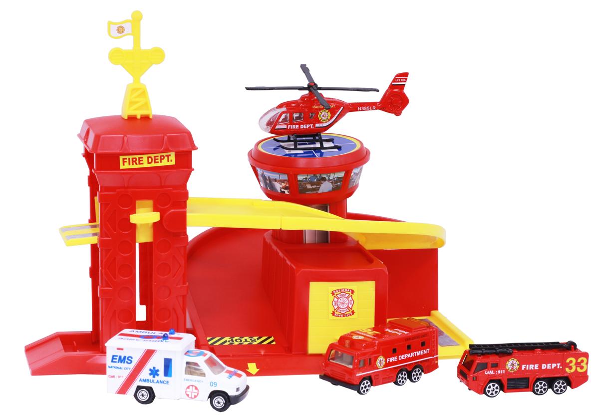 Pioneer Toys Набор машин с гаражом Fire Station pioneer toys набор машин фура
