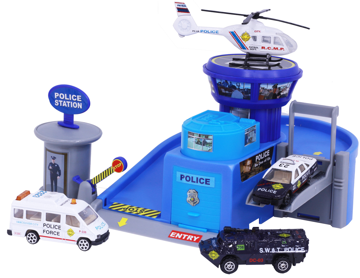 Pioneer Toys Набор машин с гаражом Police Station new list star dark tan black blyth nude doll diy makeup blue long hair princess dolls toys girls gifts