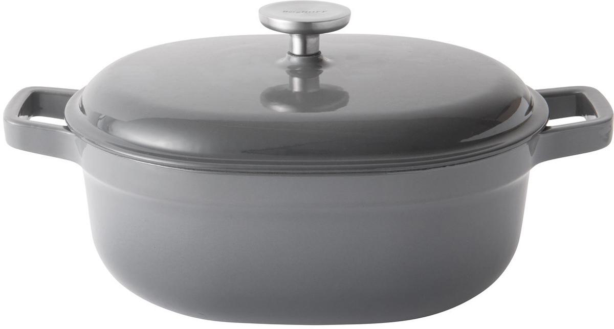Кастрюля BergHOFF Gem, чугунная, овальная, с крышкой, 27 x 22 см. 23073532307353Материал: чугун; материал крышки: чугун. Внутри изделие покрыто эмалью. Подходит для всех типов плит, включая индукционные, а также для духовых печей. Подходит для использования в духовом шкафу. Рекомендуется мыть вручную. Не подвергать резким перепадам температур.