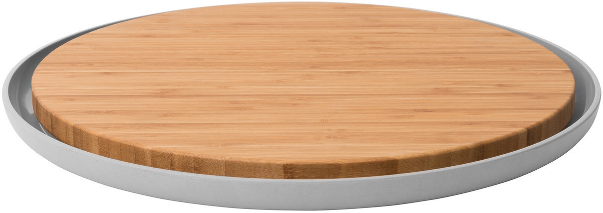Доска разделочная BergHOFF Leo, бамбуковая, с тарелкой, 36,5 x 2 см доска разделочная с тарелкой berghoff leo 3950057
