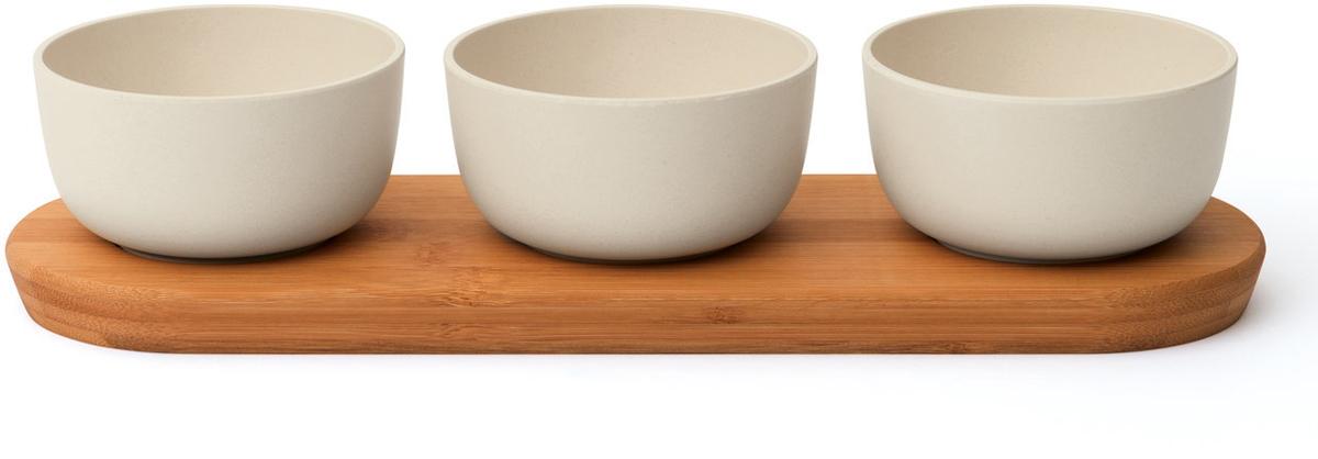 Набор мисок BergHOFF Leo, на бамбуковой подставке, 4 предмета3950081Набор BergHOFF Leo состоит из трех мисок, выполненных из высококачественного бамбуковоговолокна и подставкиМиски являются универсальным приобретением для любой кухни. С ихпомощью можно готовить блюда, хранить продукты, а также сервировать стол. Рекомендуется мыть вручную.