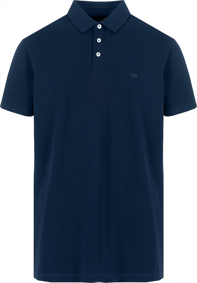 Поло мужское Lee, цвет: синий. L62XRLEE. Размер L (50)L62XRLEE