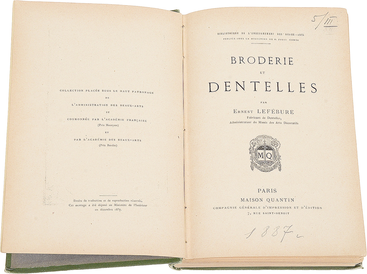 Broderie et Dentelles.