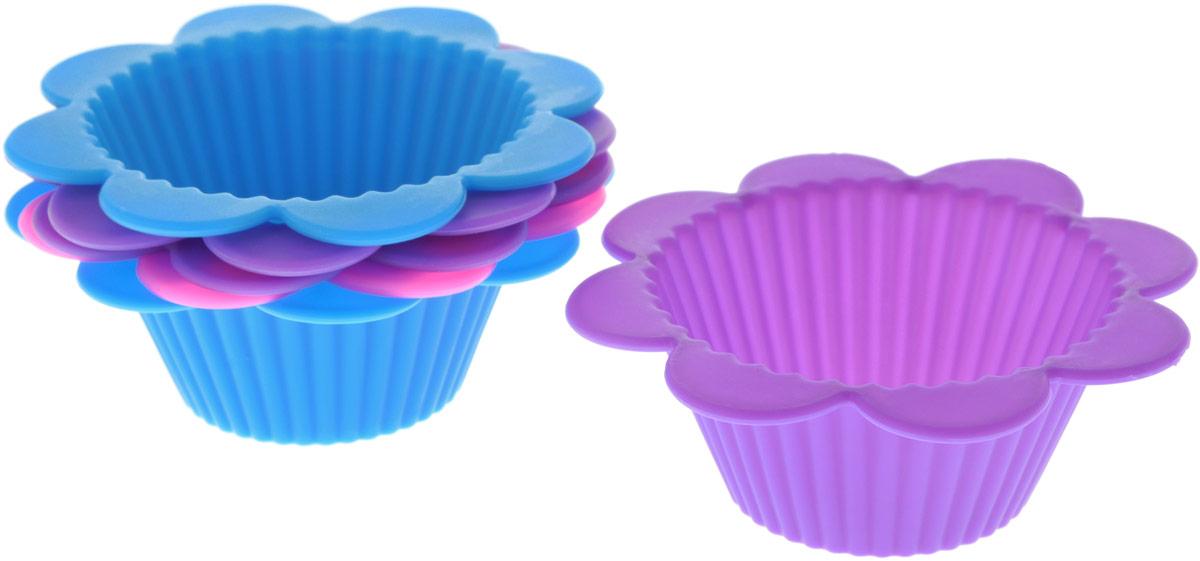 Набор форм для выпечки Доляна Риб. Ромашка, цвет: розовый, фиолетовый, синий, 9 х 4 см, 6 шт811942_розовый, фиолетовый, синийНабор форм для выпечки Доляна Риб. Ромашка состоит из 6 силиконовых форм разных цветов. Форма для выпечки из силикона - современное решение для практичных и радушных хозяек. Оригинальныйпредметпозволяет готовить в духовке любимые блюда.Блюдо в силиконовой форме сохраняет нужную форму и легко отделяется от стенок после приготовления.Высокаятермостойкость (от -40 до +230°С) позволяет применять форму в духовых шкафах и морозильных камерах;небольшаямасса делает эксплуатацию предмета простой; силикон пригоден для посудомоечных машин; высокопрочныйматериалделает форму долговечным инструментом; при хранении предмет занимает мало места.Перед извлечением блюда из силиконовой формы дайте ему немного остыть, осторожно отогните края предмета.Размер 1 формы: 9 х 4 см.