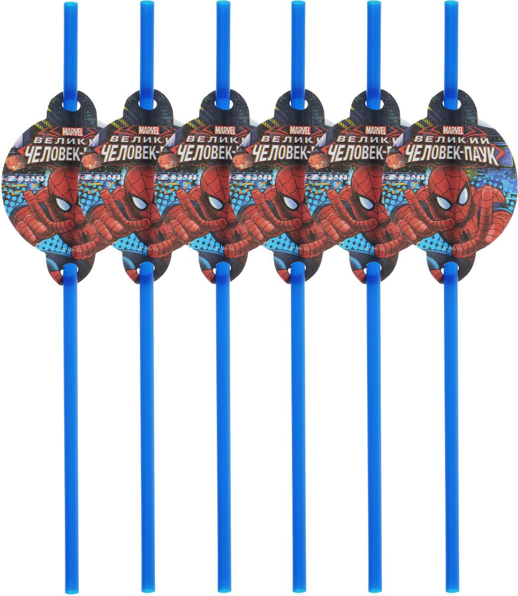 """Трубочки для коктейля Пати Бум """"Человек-Паук"""" подойдут для организации детской  вечеринки, дня рождения и других праздников. Красивые трубочки выполнены из  пластика и оформлены яркими картинками. Такие трубочки для коктейля станут отличным дополнением праздничного  настроения. В наборе 6 трубочек."""